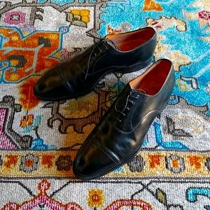 Brooks Brothers Men 9 9.5 black oxford cap toe